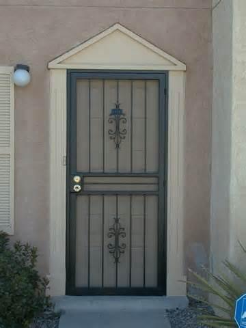 Black Metal Screen Doors el paso custom iron works - standard security doors